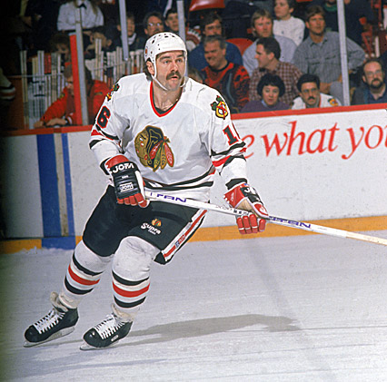 Michel Goulet Chicago Blackhawks (picture courtesy of Blackhawks.NHL.com)