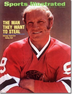 Hull on the last Blackhawks SI cover (photo courtesy of the SI Vault picture taken by Tony Triolo)