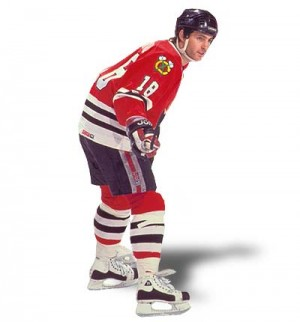Denis Savard #18 Chicago Blackhawks (picture courtesy of legendsofhockey.net)