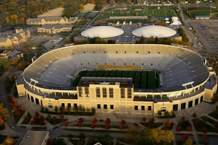 Notre Dame Stadium ( Picture courtesy of Stadium.nd.edu)