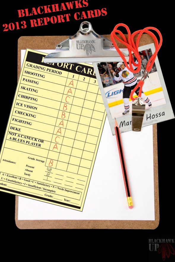 Report Card Marian Hossa (Photoshop Credit to Joe Kremel)