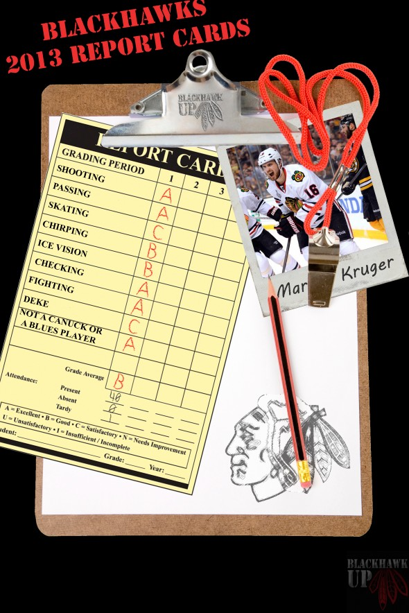 Report Card Marcus Kruger (PhotoShop by Joe Kremel)