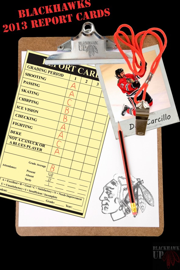 Report Card Carcillo (Photoshop Pic by Joe Kremel)