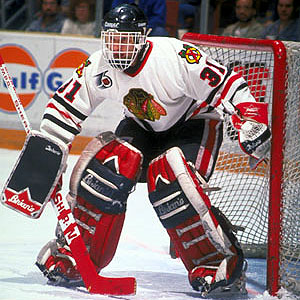 Dominik Hasek #31 Chicago Blackhawks (Picture Courtesy of Goaliesarchives.com)