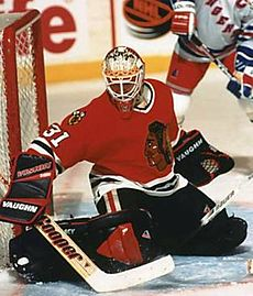 Jeff Hackett #31 Chicago Blackhawks (Picture Courtesy of Wikimedia.com)