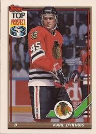 Karl Dykhuis #45 Chicago Blackhawks (Picture Courtesy of Tradingcardsdb.com)