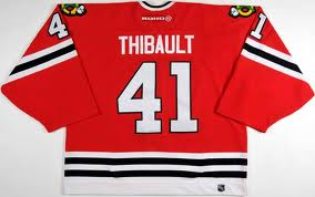 Jocelyn Thibault #41 Chicago Blackhawks (Picture courtesy of gamewornauctions.com)