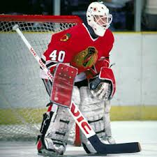 Darren Pang #40-Chicago Blackhawks (Picture Courtesy of thirdstringgoalie@blogspot.com)