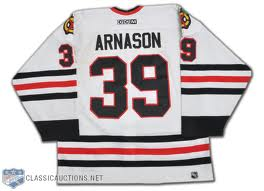 Tyler Arnason #39 Chicago Blackhawks (Picture Courtesy of ClassicAuction.com)
