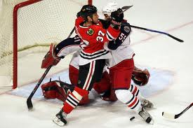 Adam Burish #37 Chicago Blackhawks (Picture courtesy of Zimbio.com)