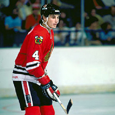 Keith Brown Chicago Blackhawks #4 (Picture Courtesy of Icehockey.wikia.com