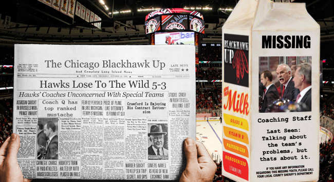 Chicago Blackhawks Milk Carton-Chicago Blackhawks Coaching Staff (Photoshop by Joe Kremel