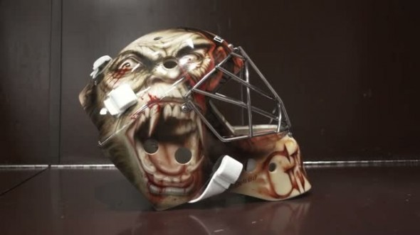 Thomas Griess' terrifying mask.