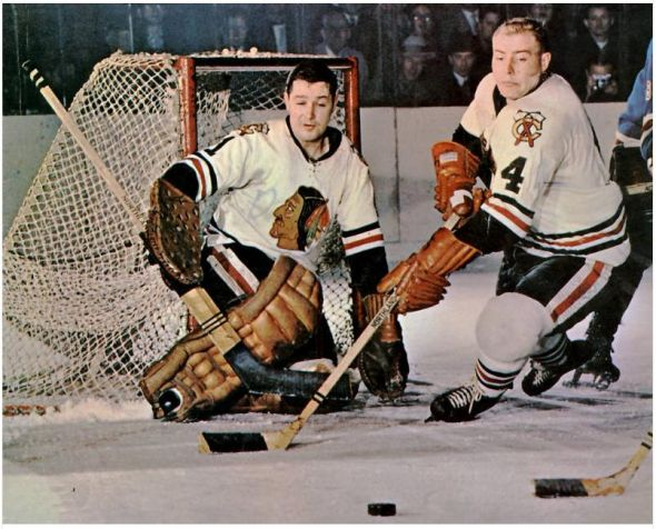 Chicago Black Hawks Goalie Glen Hall (Photo Courtesy of www.greatesthockeylegends.com)