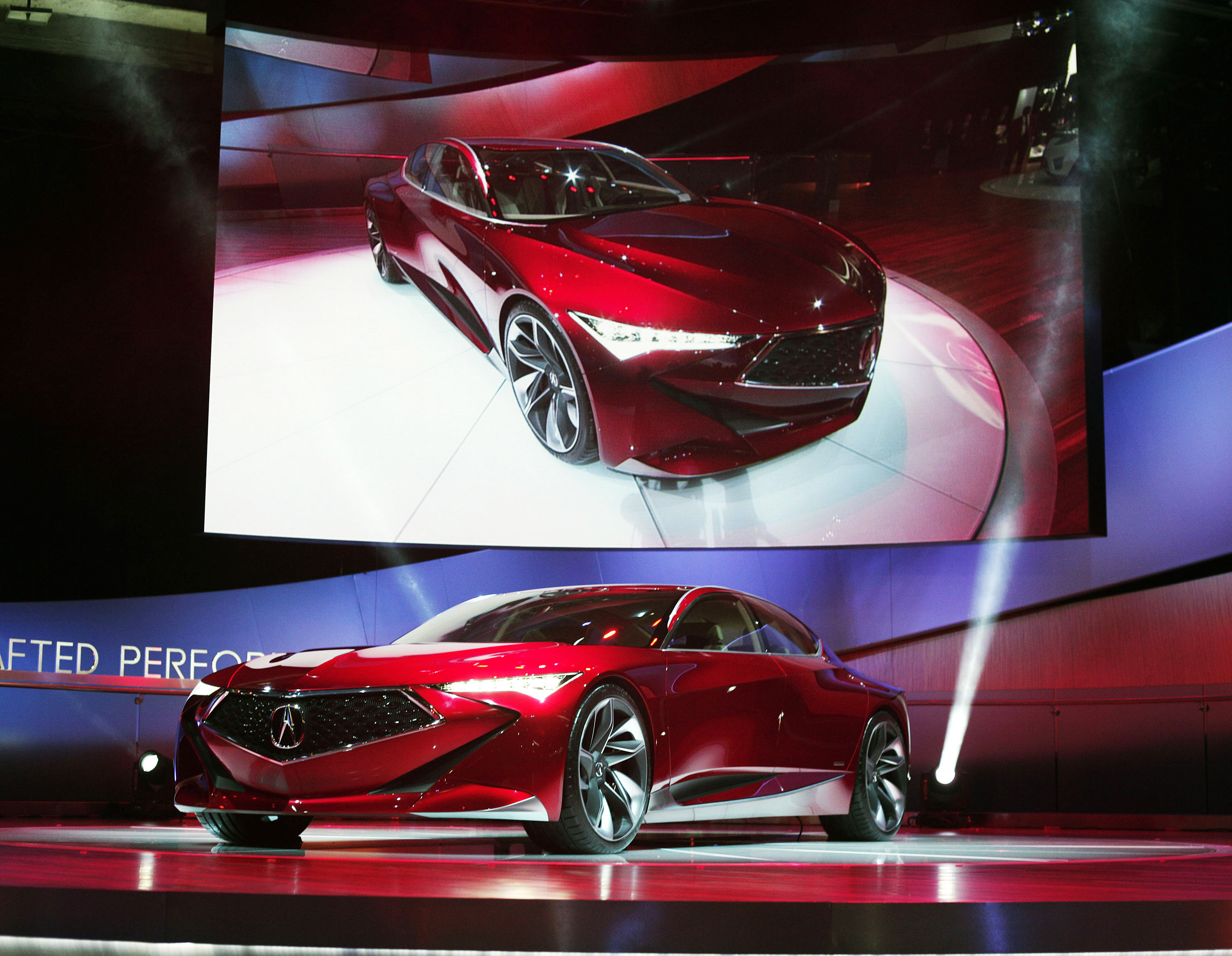 DETROIT, MI - JANUARY 12: The Acura Precision Concept is revealed to ...
