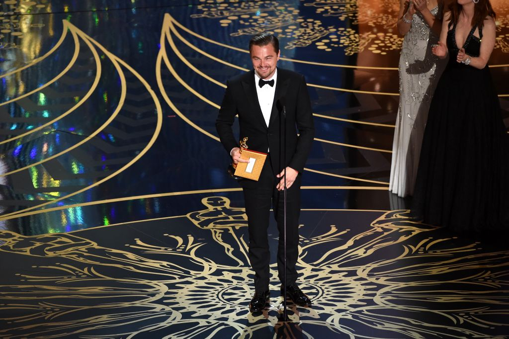 Leonardo DiCaprio on getting his Oscar engraved: 'I wouldn't know'