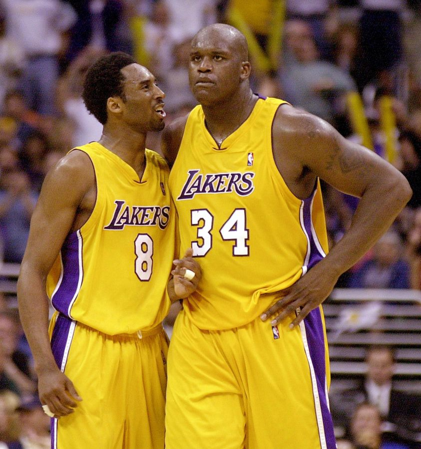 Shaq Jokes About Kobe Pushing Him Off Lakers During Speech