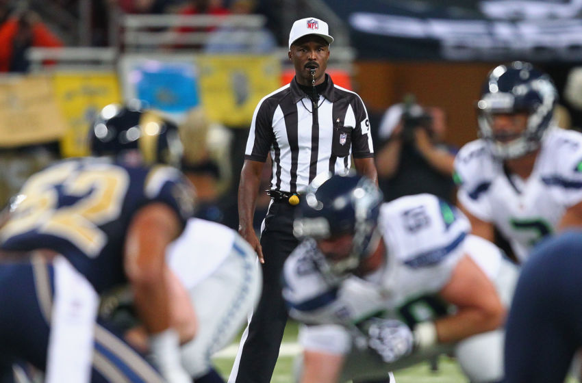 ST. LOUIS, MO - SEPTEMBER 30: Referee Mike Carey