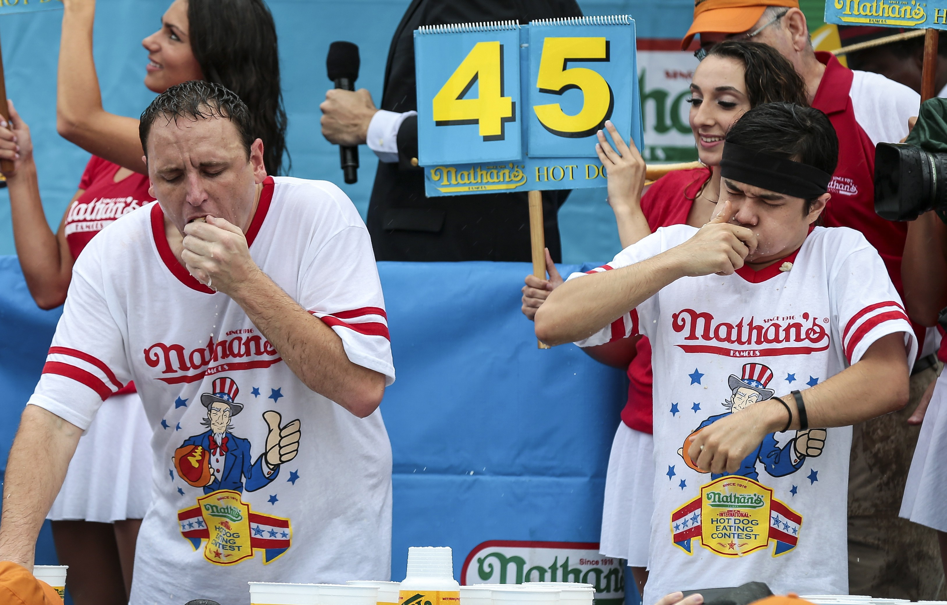Nathan S Hot Dog Eating Contest Time