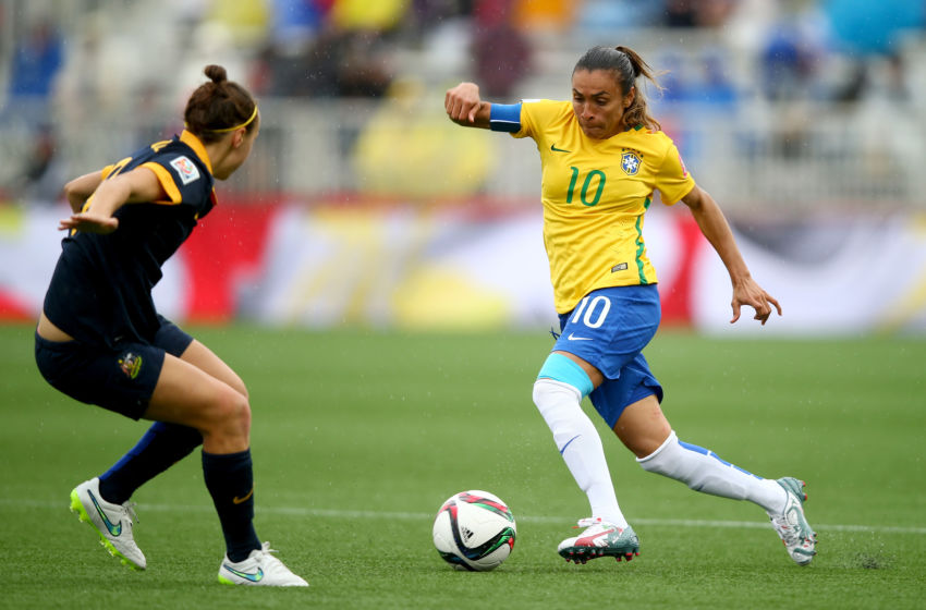Moncton nb june 21 marta of brazil in action during the fifa women
