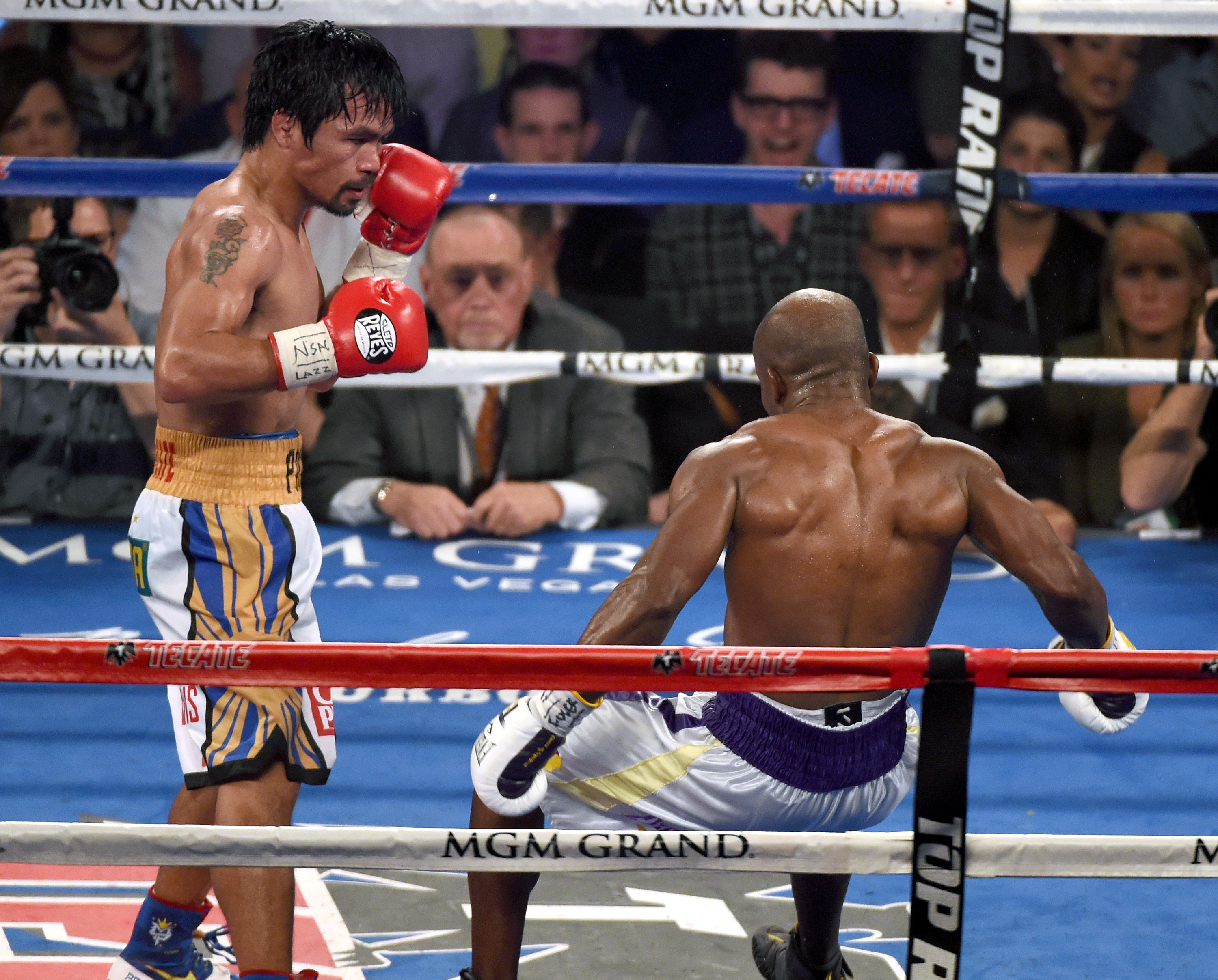 Manny Pacquiao can still hit hard.