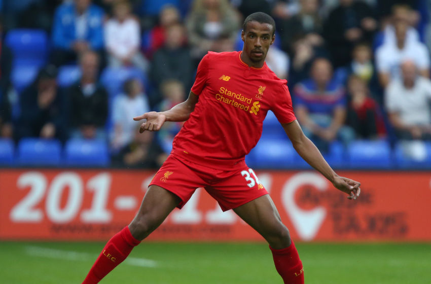 BIRKENHEAD, ENGLAND - JULY 08: Joel Matip of Liverpool during the Pre-Season Friendly match between Tranmere Rovers and Liverpool at Prenton Park on July 8, 2016 in Birkenhead, England. (Photo by Dave Thompson/Getty Images)