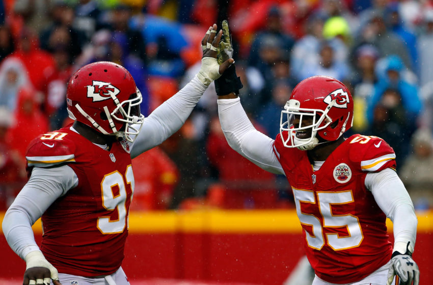 KANSAS CITY, MO - DECEMBER 13: Linebacker Dee Ford