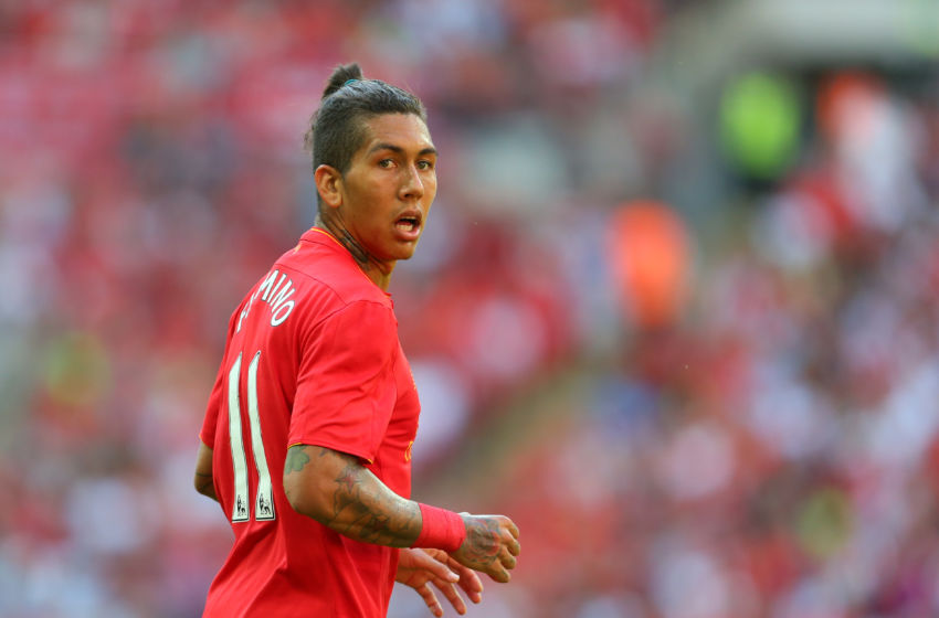 LONDON, ENGLAND - AUGUST 06: Roberto Firmino of Liverpool during the International Champions Cup 2016 match between Liverpool and Barcelona at Wembley Stadium on August 6, 2016 in London, England. (Photo by Catherine Ivill - AMA/Getty Images)