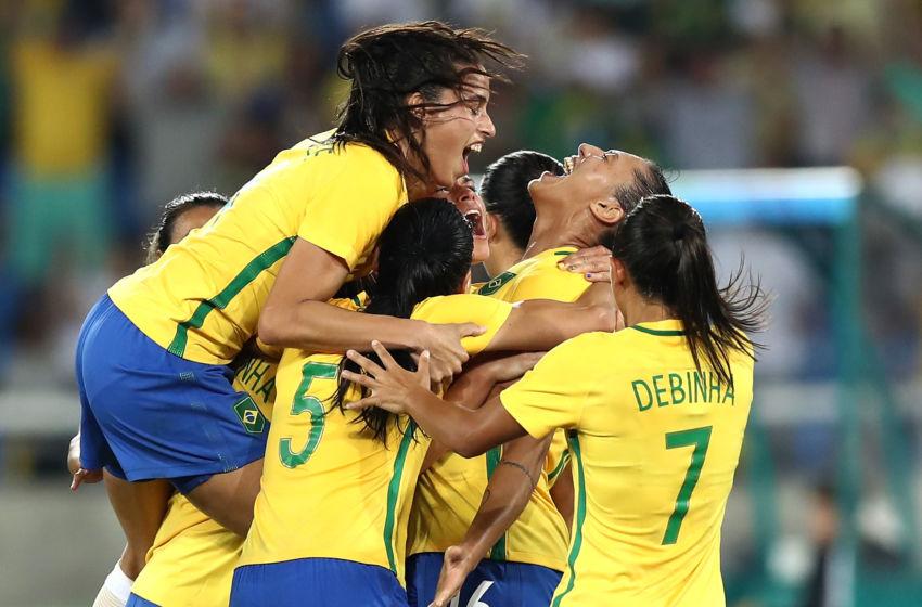 Brazil august 06 beatriz of brazil celebrates after scoring brazil
