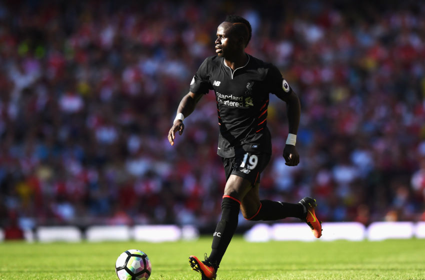 LONDON, ENGLAND - AUGUST 14: Sadio Mane of Liverpool in action during the Premier League match between Arsenal and Liverpool at Emirates Stadium on August 14, 2016 in London, England. (Photo by Michael Regan/Getty Images)