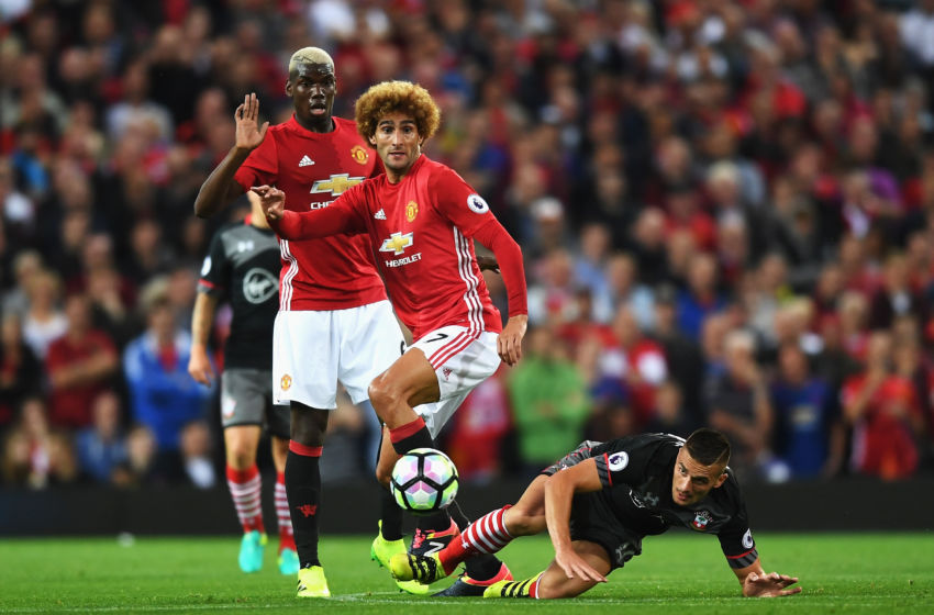 Marouane Fellaini and Paul Pogba operated well together in midfield (Photo by Michael Regan/Getty Images)