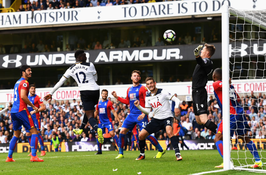 LONDON, ENGLAND - AUGUST 20: Victor Wanyama of Tottenham Hotspur scores his sides first goal past Wayne Hennessey of Crystal Palace during the Premier League match between Tottenham Hotspur and Crystal Palace at White Hart Lane on August 20, 2016 in London, England. (Photo by Mike Hewitt/Getty Images)
