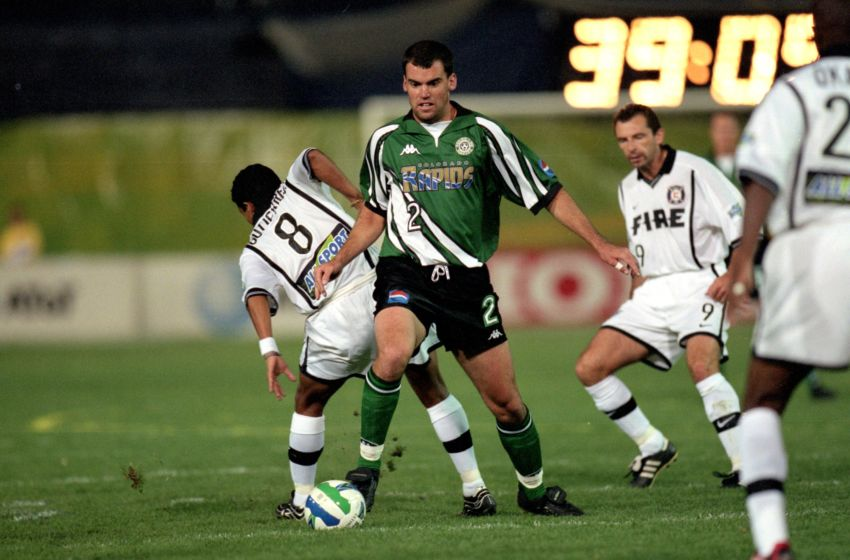 6 Oct 1999: Matt McKeon #2 of the Colorado Rapids controls the ball during the game against the Chicago Fire at the Mile High Stadium in Denver, Colorado. The Fire defeated the Rapids 1-0.