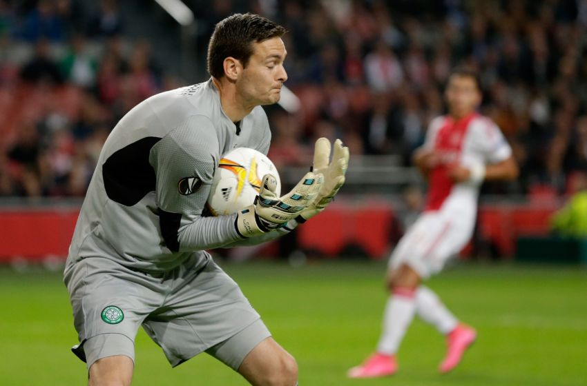Craig Gordon of Celtic during the UEFA Europa League group A match between Ajax and Celtic on September 17, 2015 at the Amsterdam Arena in Amsterdam, The Netherlands.(Photo by VI Images via Getty Images)