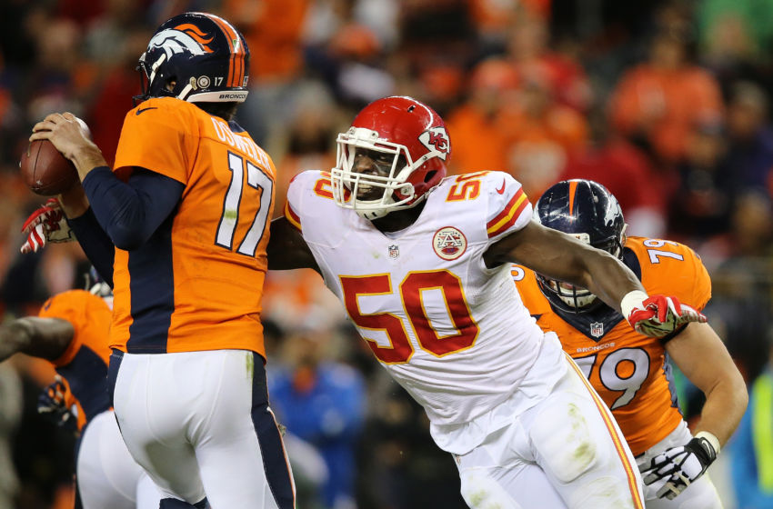DENVER, CO - NOVEMBER 15: Linebacker Justin Houston