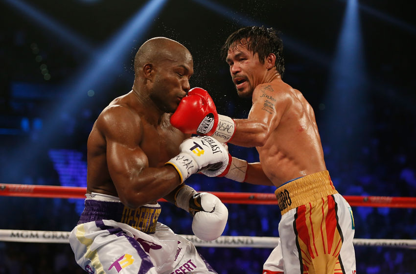 Manny Pacquiao punches from odd angles.