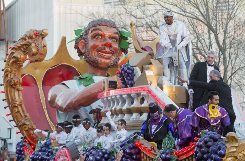 ... 2016 Krewe Of Bacchus parade on February 7, 2016 in New Orleans
