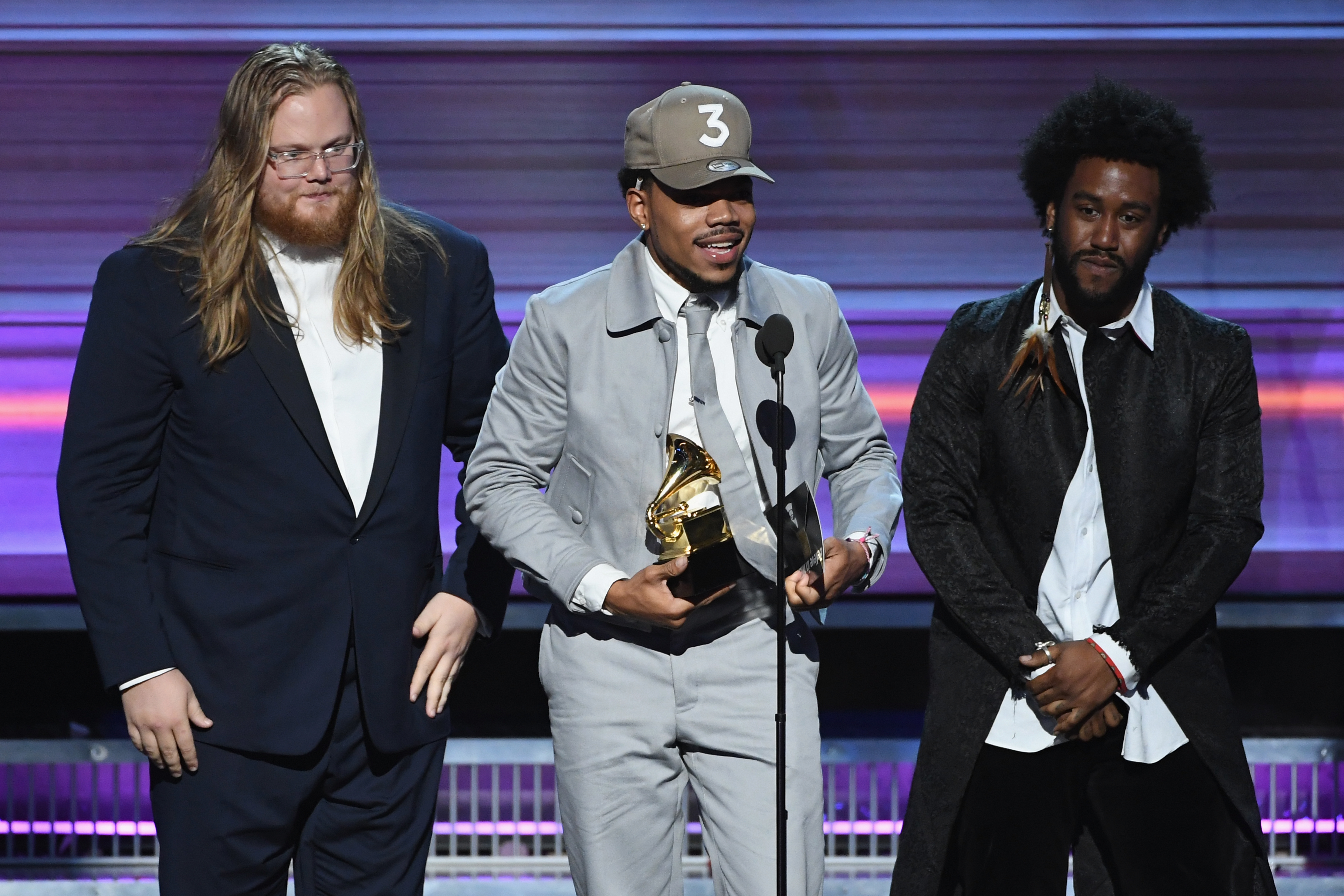 The coloring book grammy - Los Angeles Ca February 12 Recording Artist Chance The Rapper C Accepts The Best Rap Album Award For Coloring Book Onstage During The 59th Grammy