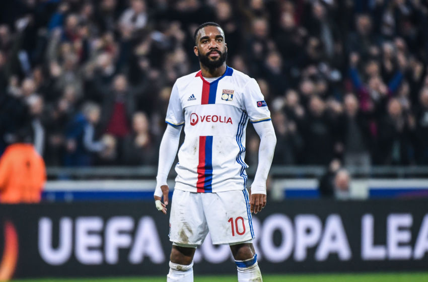 Image result for lacazette roma goal