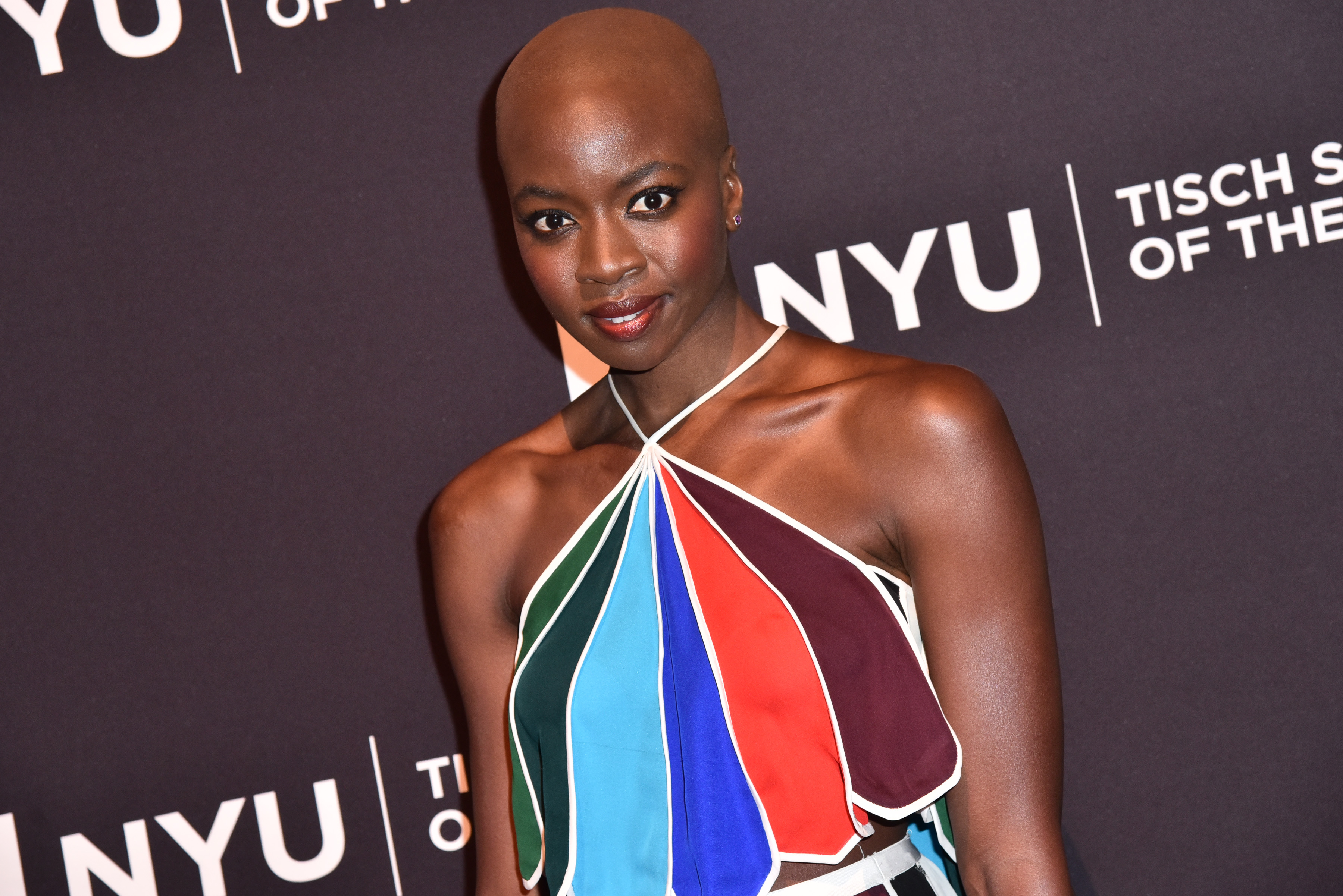 Black panther danai gurira officially completes filming for Tisch schmal