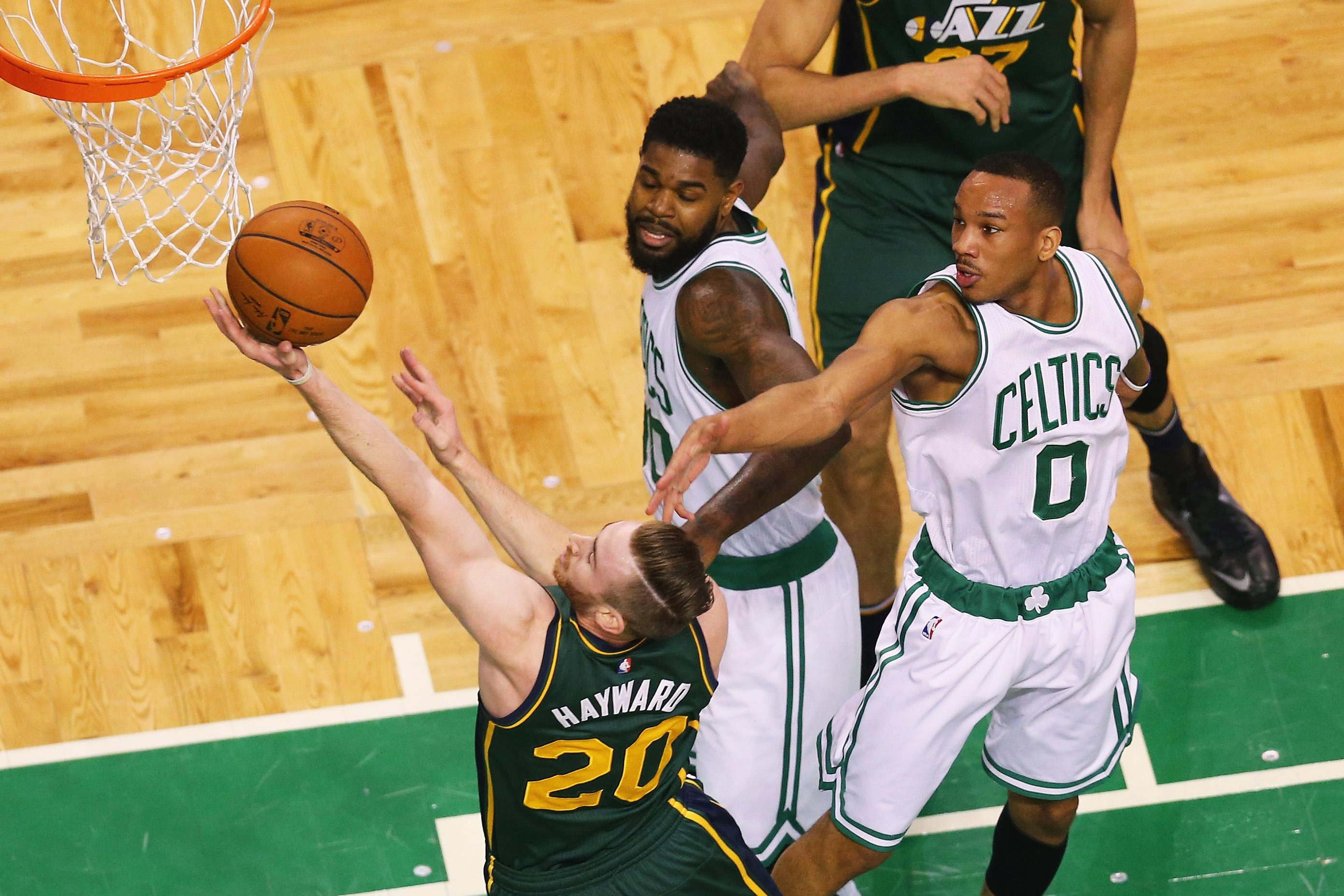 Gordon Hayward visits Fenway Park as part of Boston Celtics pitch