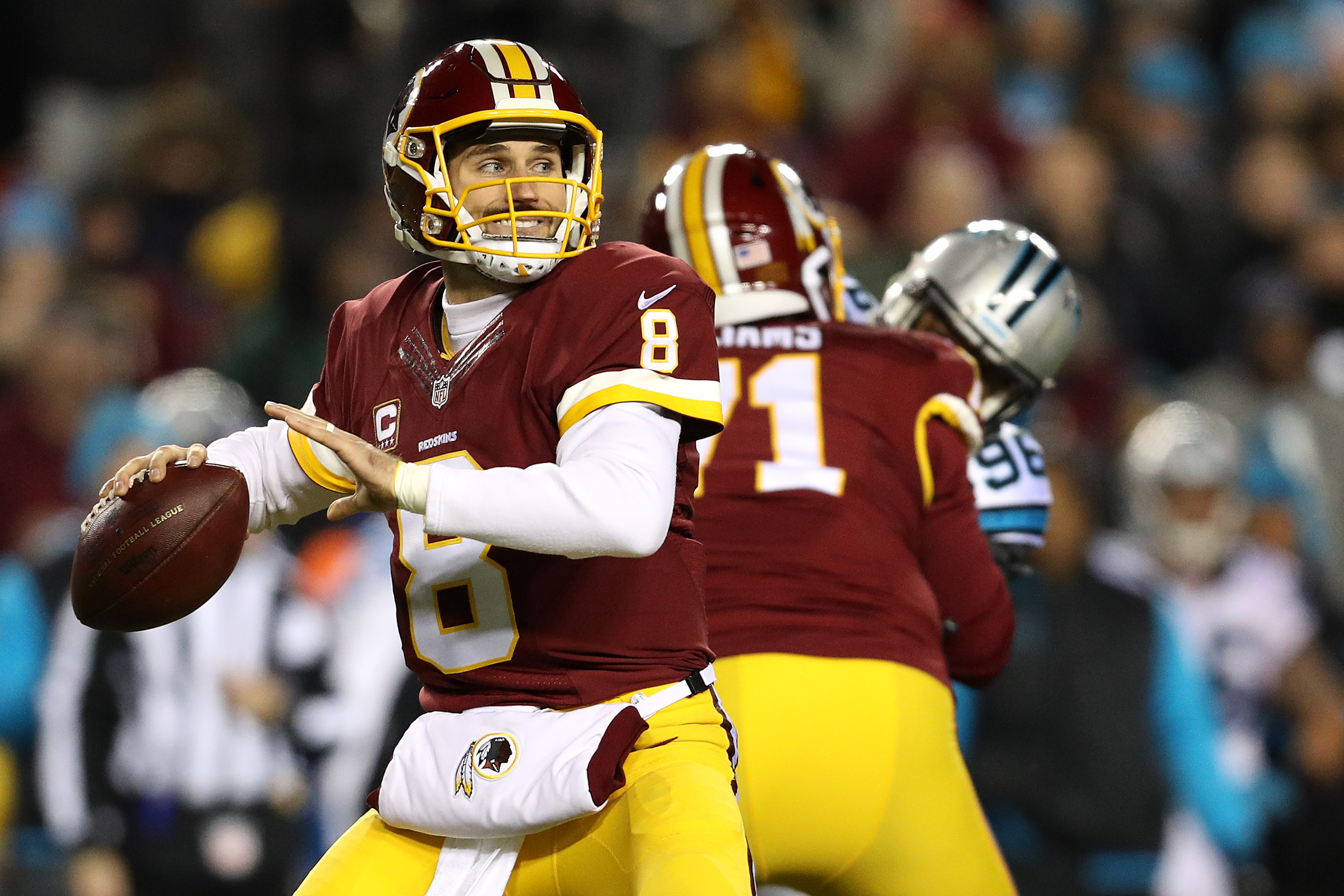 Kirk Cousins enjoys a pleasant bargaining table
