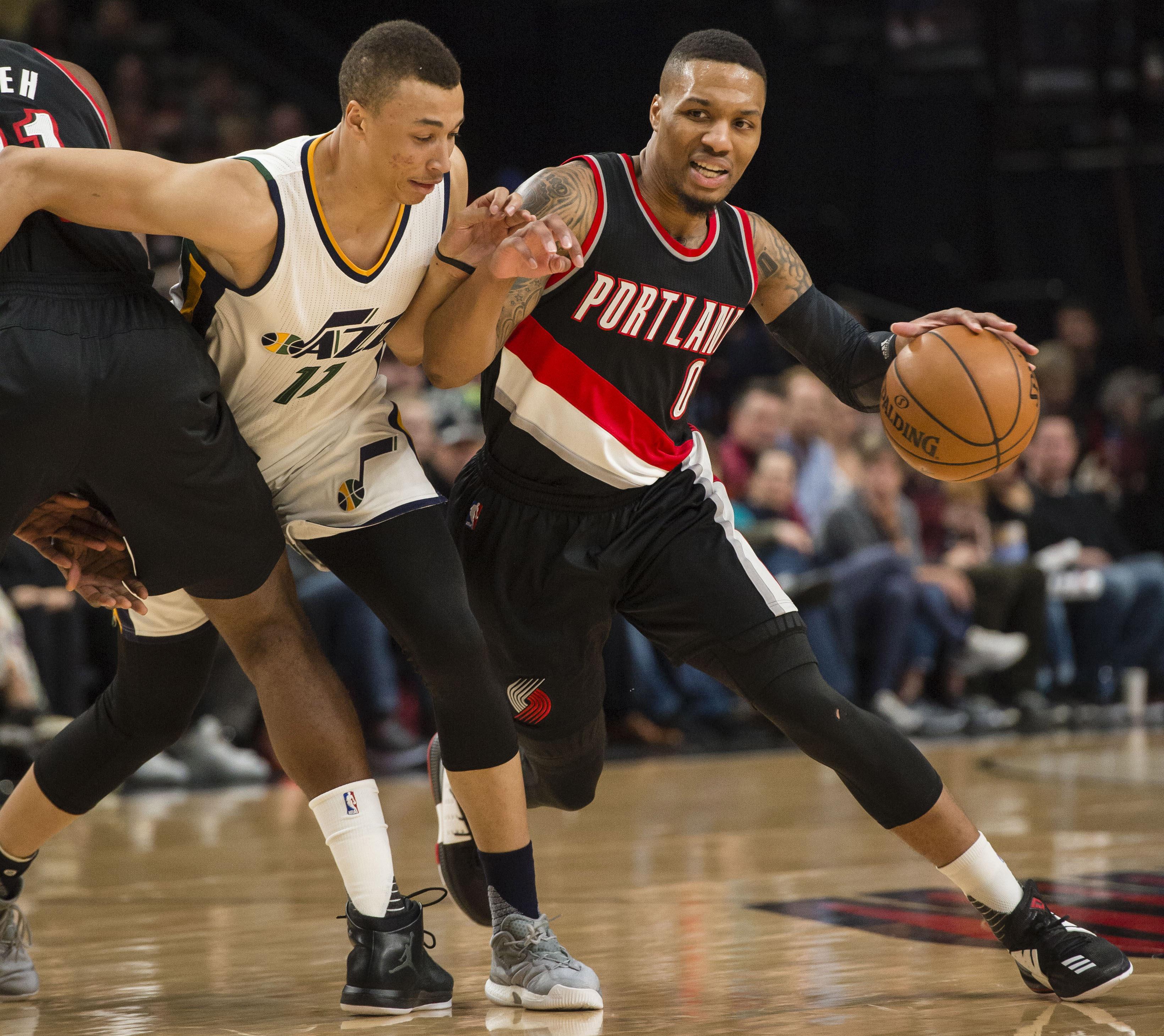 Portland Trail Blazers Espn Nba: Utah Jazz Scorched By Damian Lillard, Portland Trail Blazers