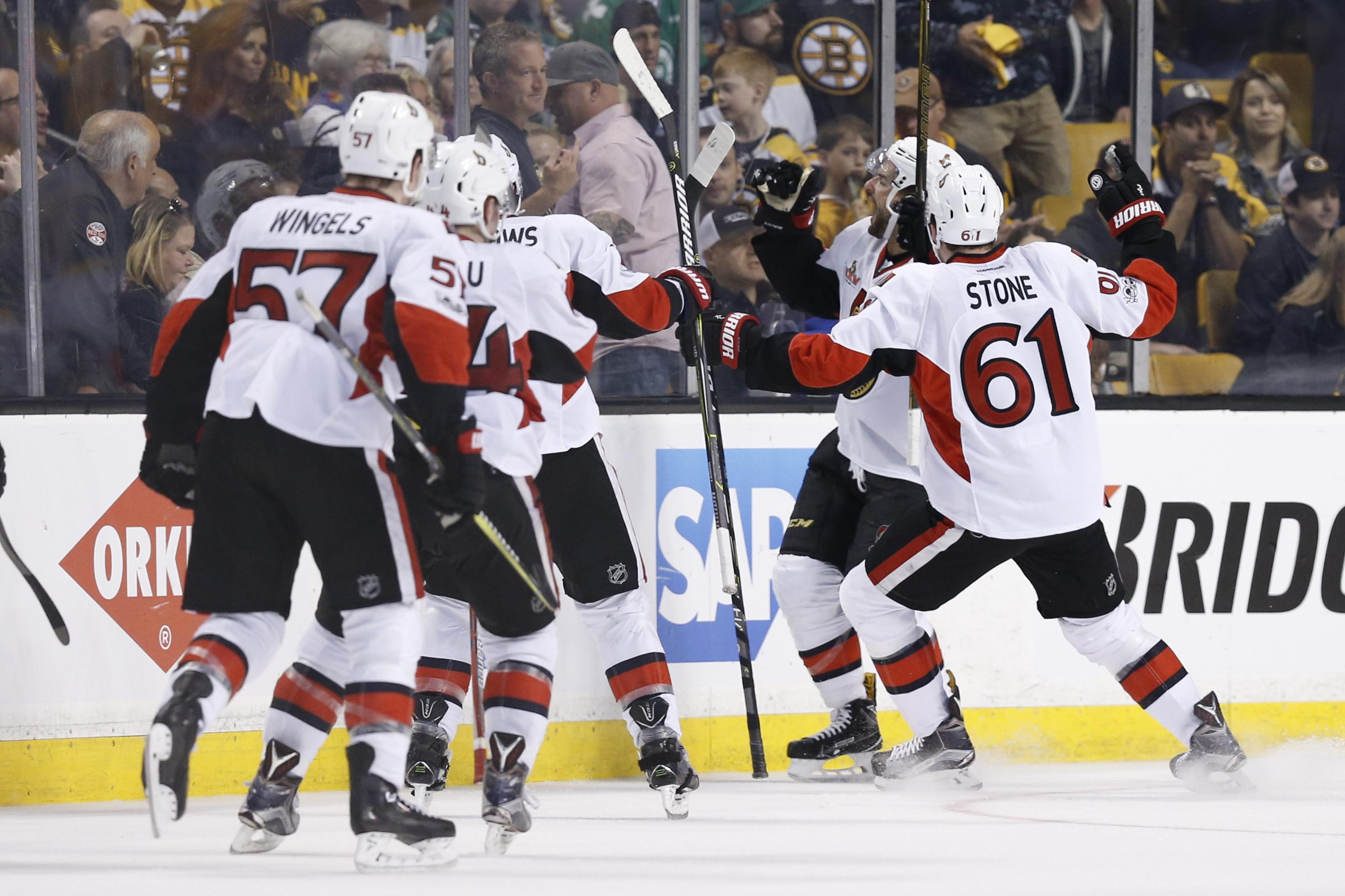 Karlsson helps Senators edge Rangers 2-1 in Game 1