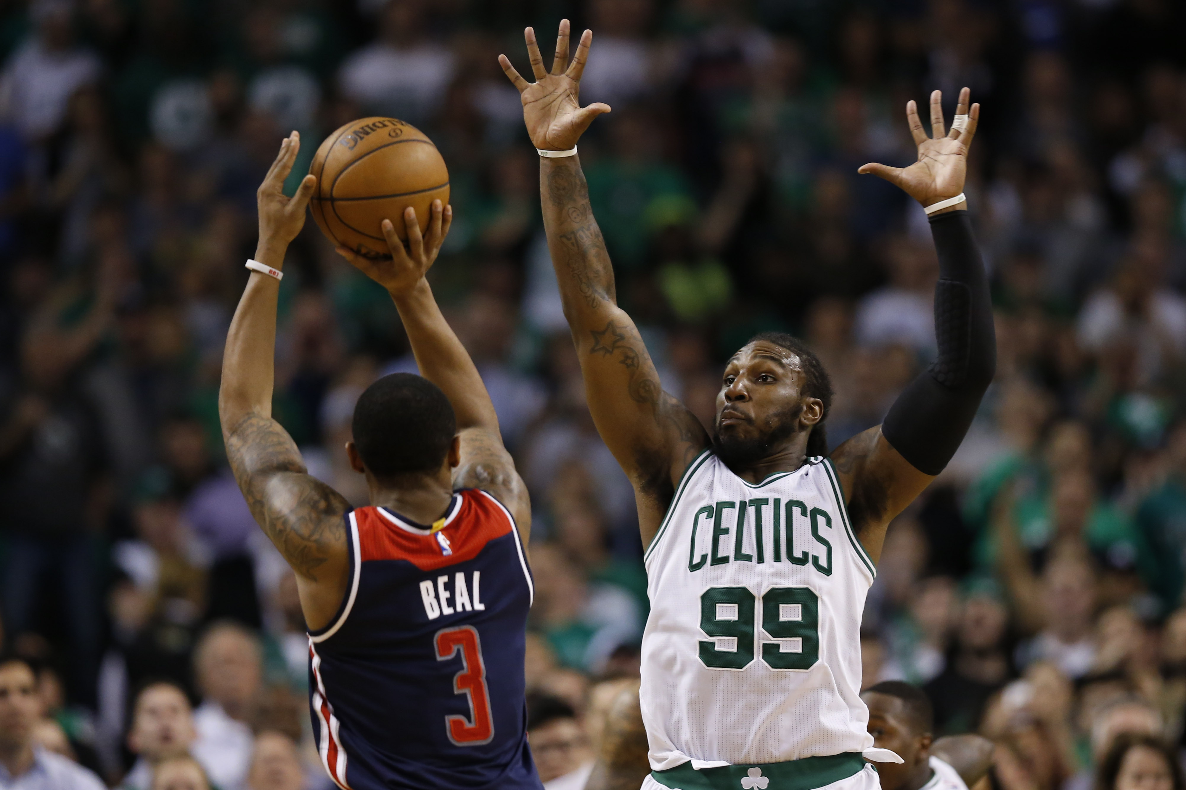 Wizards put up Wall to bring down Celtics in heated playoff