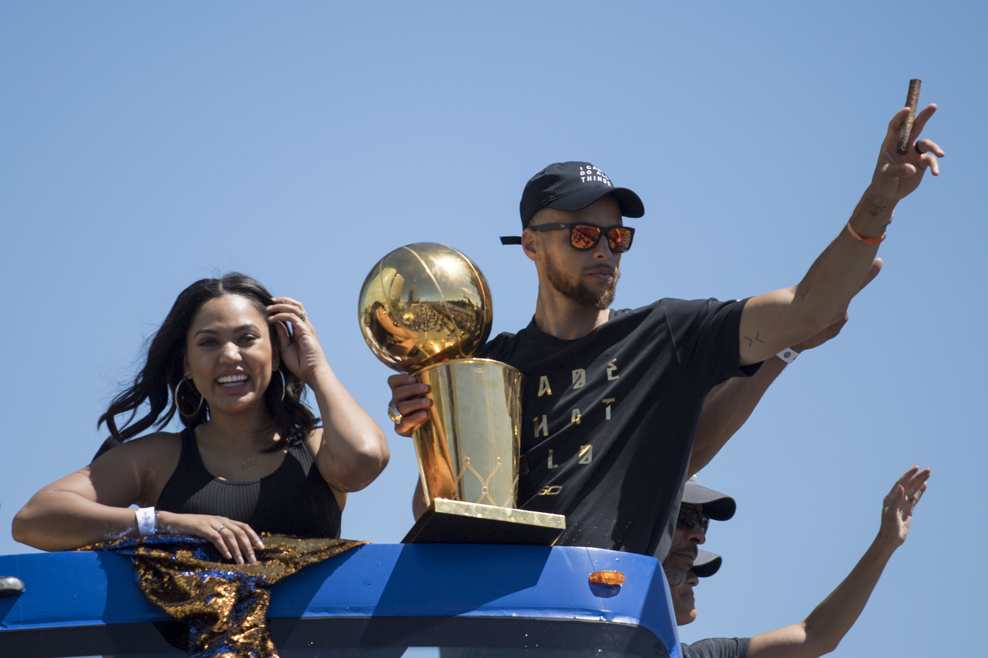 Warriors celebrate NBA crown with street parade