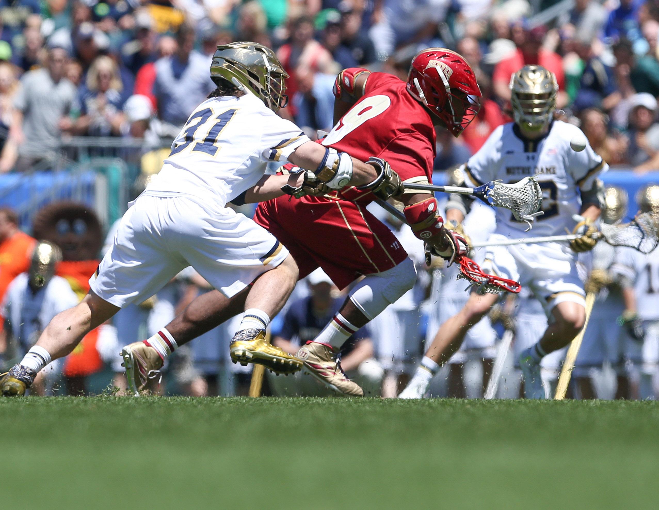 8577122-ncaa-lacrosse-semifinals-denver-pioneers-vs.-notre-dame-fighting-irish