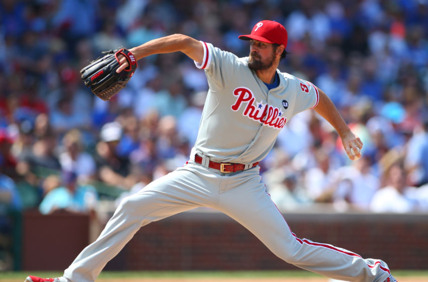 In the First Inning of His Final Game for the Phillies, Hamels Fires a No-Hitter. Photo by Caylor Arnold - USA TODAY Sports.