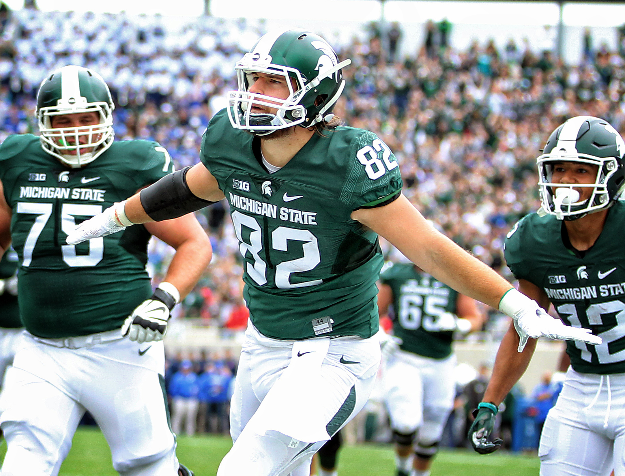 michigan state football nfl game spartans kc draft force air against spring today spartan mi picks offensive chiefs mock indiana