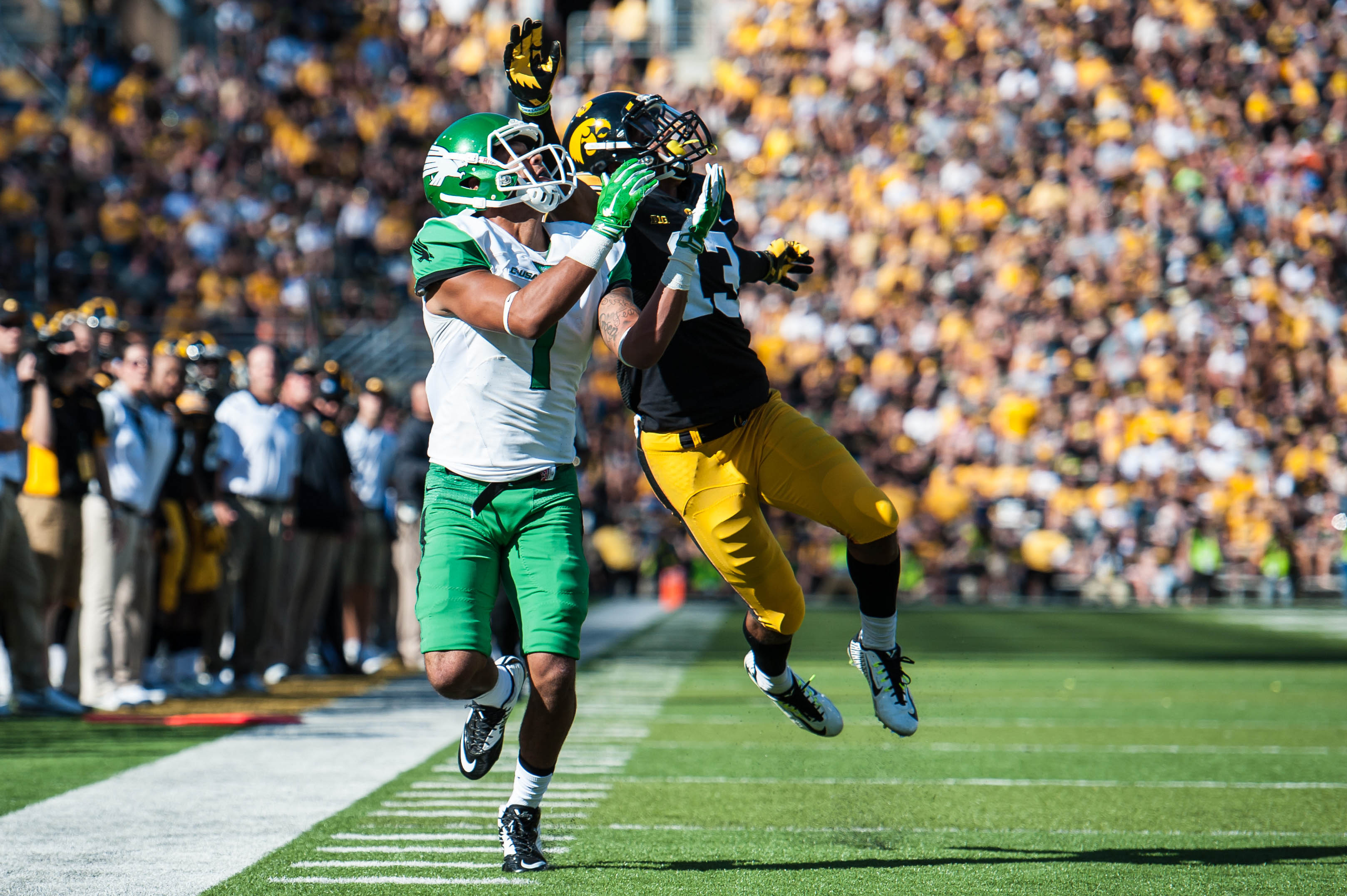 NCAA Football: North Texas at Iowa